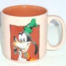 Disney Goofy Coffee Mug Tan Brown Tea Soup Hot Coca Cup