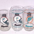 5 Miami Dolphins Collector Drinking Glass Stein Mobil Vintage NFL Football Gift
