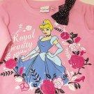 Disney Cinderella Sweatshirt Girls Size 3T Pink Royal Beauty
