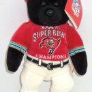 Tampa Bay Buccaneers Bear Super Bowl 37 Bean Bag NFL Football Team New
