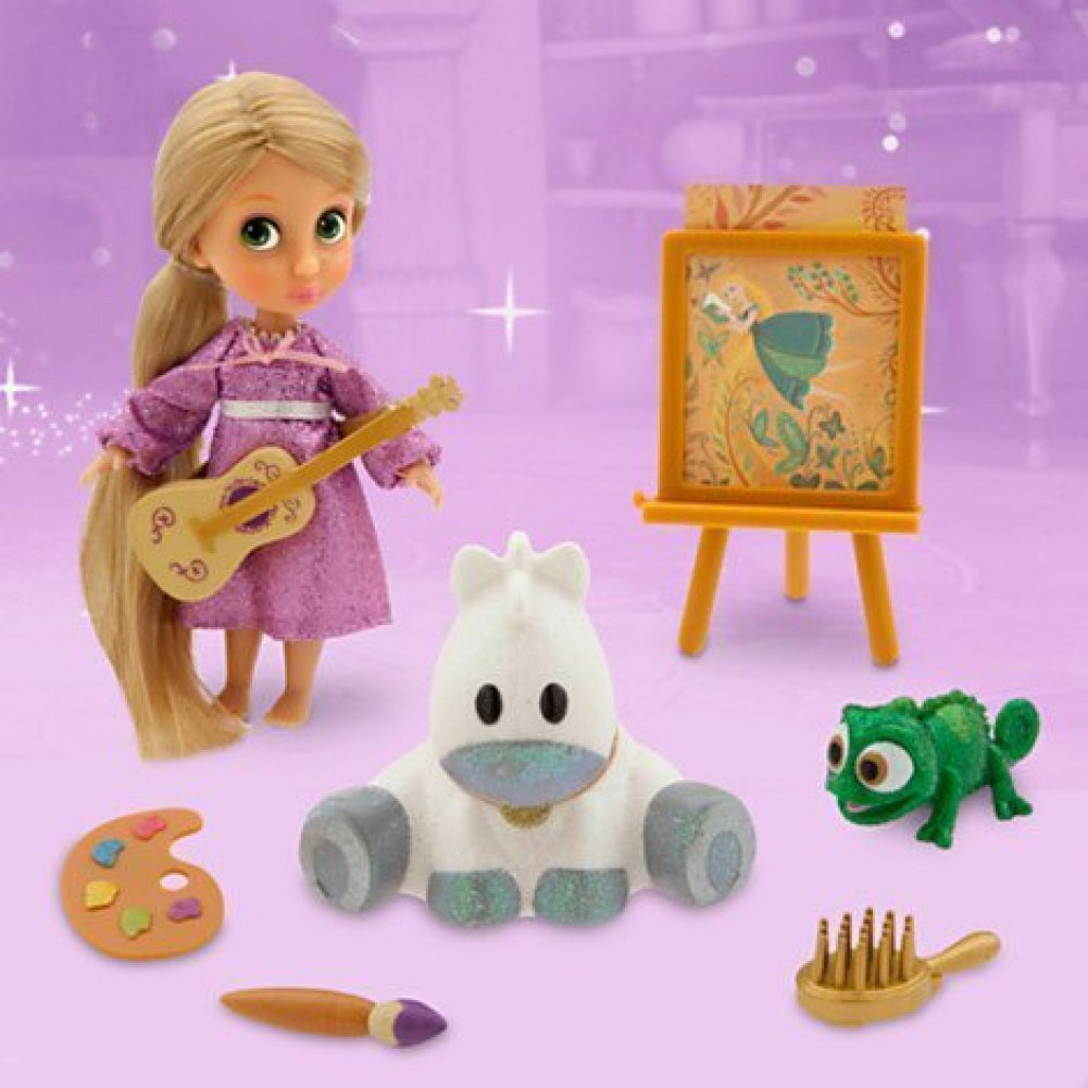 isney Store Rapunzel Mini Doll Play Set 5'' Animators Collection