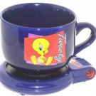 Looney Tunes Tweety Bird Cup Mug with Warmer Hot Spot Set Keeps Beverage Warm