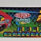 Jeff Gordon Car Auto Bumper Sticker NASCAR