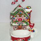 M&M's Dept 56 Candy House Dish Lighted M&M Christmas Holiday Ceramic