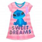 Disney Store Nightshirt Nightgown Girls Stitch Size 2018 New 7/8