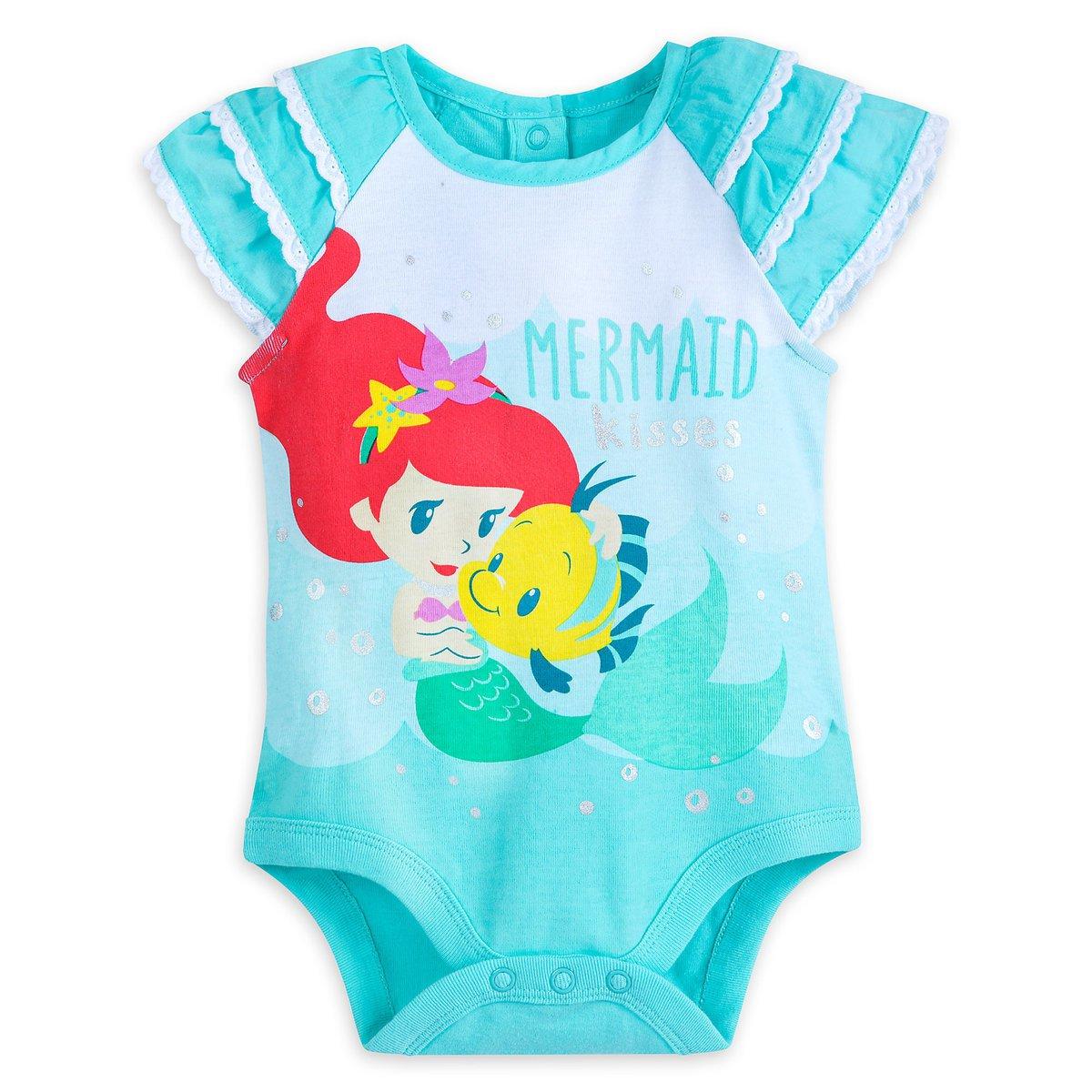Disney Store Ariel Baby Bodysuit The Little Mermaid 12-18 Months 2018 New