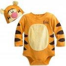 Disney Store Tigger Baby Costume Bodysuit Hat Winnie the Pooh 0-3 Months 2018 New