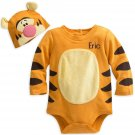 Disney Store Tigger Baby Costume Bodysuit Hat Winnie the Pooh 9-12 Months 2018 New