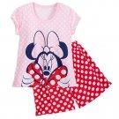 Disney Store Minnie Mouse Ladies 2 Piece Short Pajamas PJ Set 2018 Size Medium