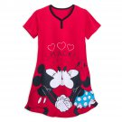 Disney Store Minnie Mickey Mouse Red Nightshirt for Women M/L