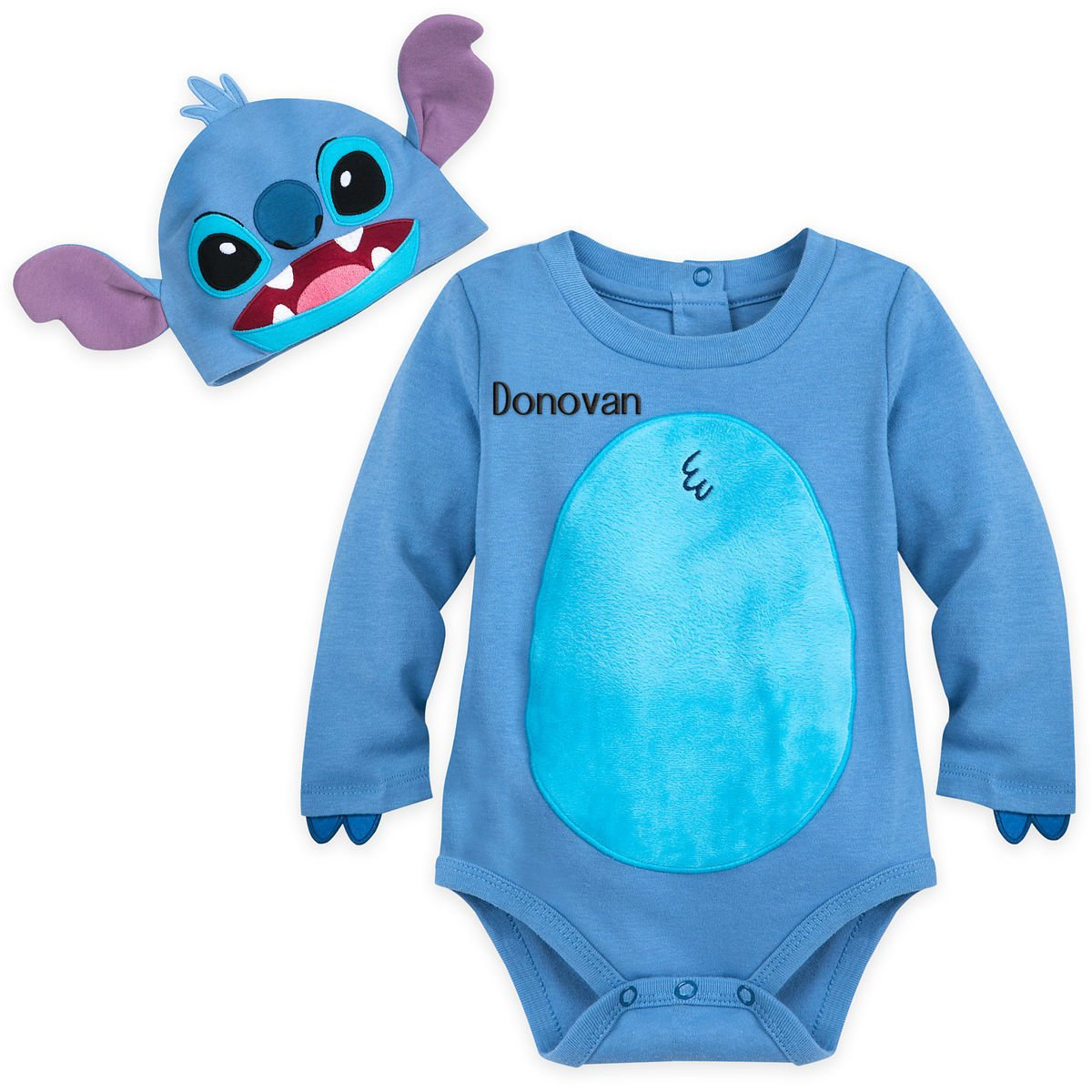 Disney Store Stitch Baby Costume Bodysuit Hat Lilo and Stitch 0-3 Months 2018 New