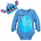 Disney Store Stitch Baby Costume Bodysuit Hat Lilo and Stitch 3-6 Months 2018 New