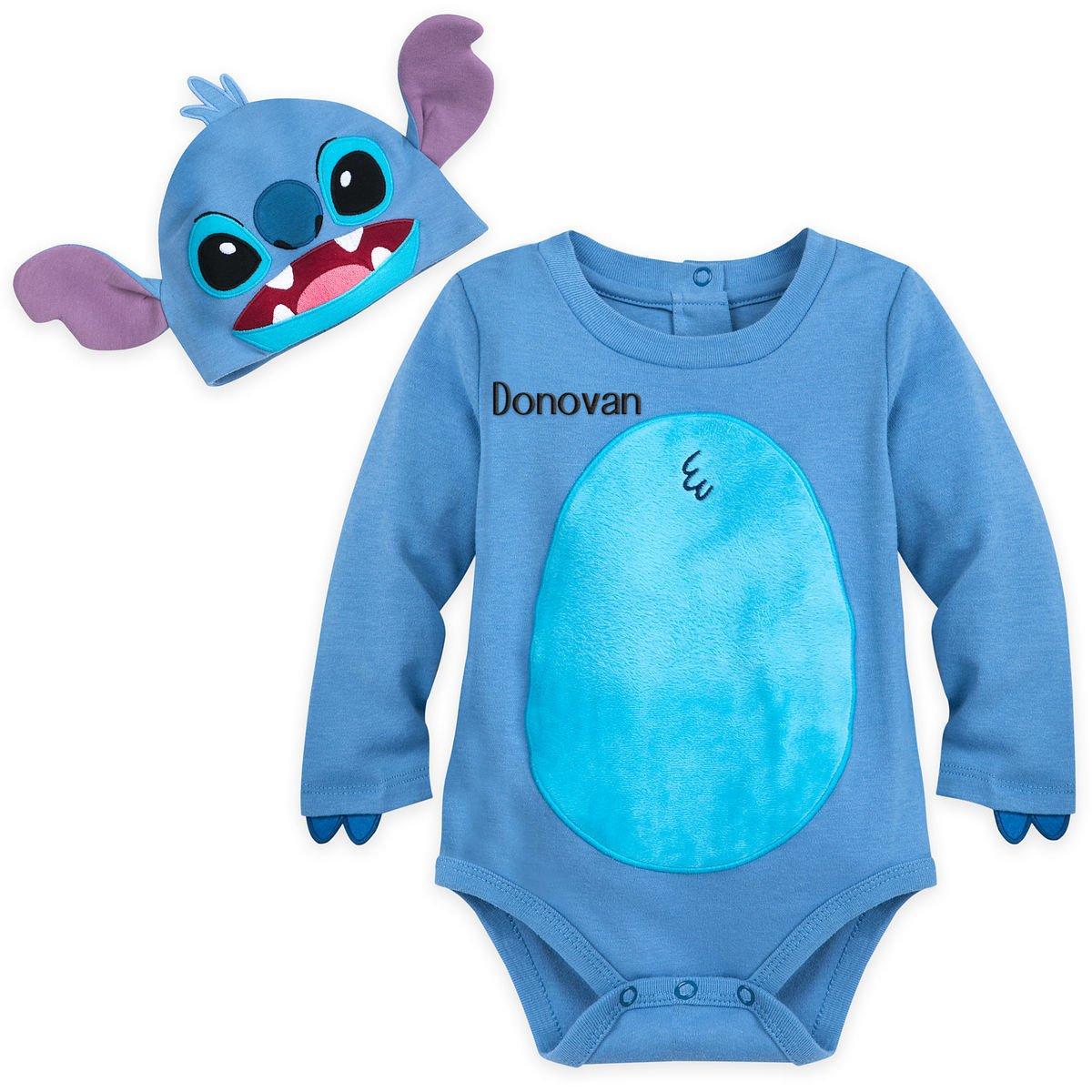 Disney Store Stitch Baby Costume Bodysuit Hat Lilo and Stitch 6-9 Months 2018 New
