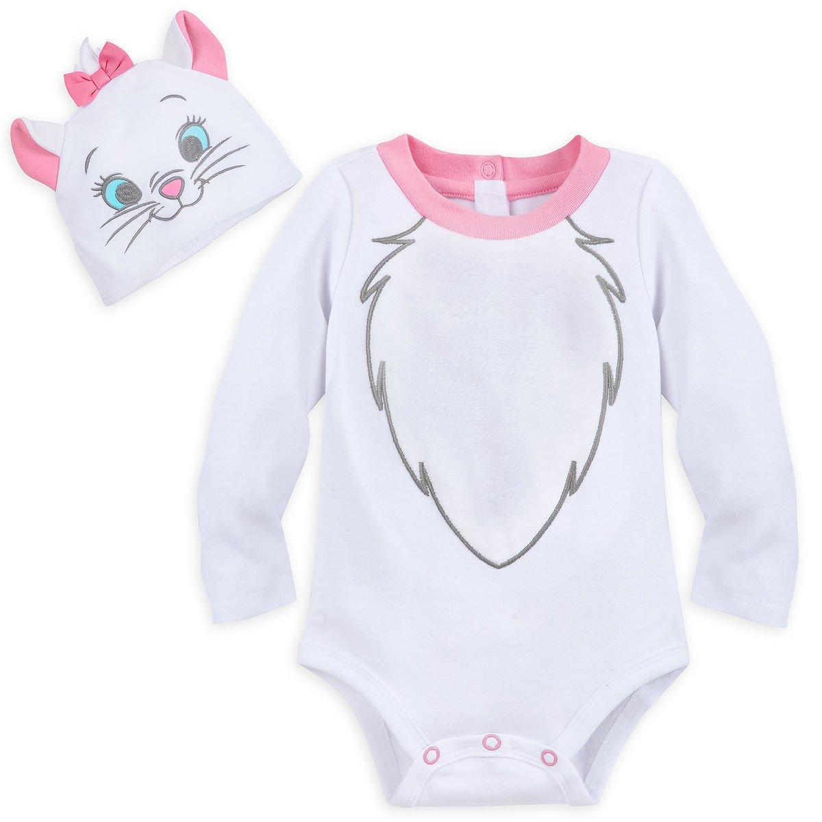 Disney Store Marie Baby Costume Bodysuit Hat 0-3 Months 2018 New