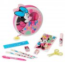 Disney Store Minnie Mouse Zip Up Art Case Stationary Pencils Markers 2018