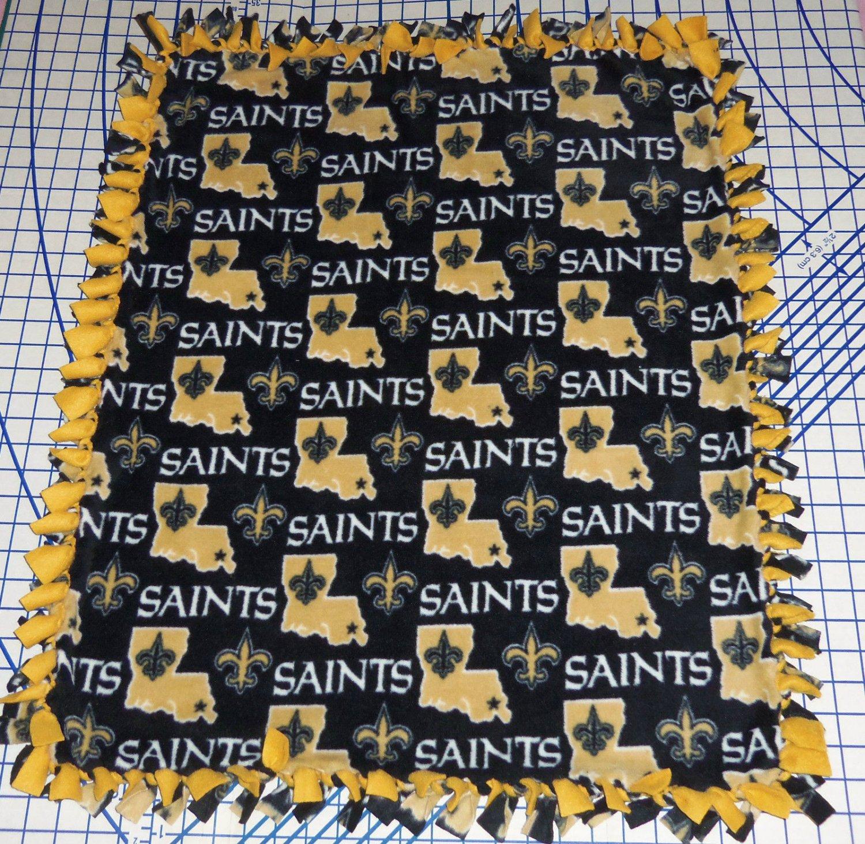 New Orleans Saints Blanket Toss Fleece Baby Pet Lap NFL Football