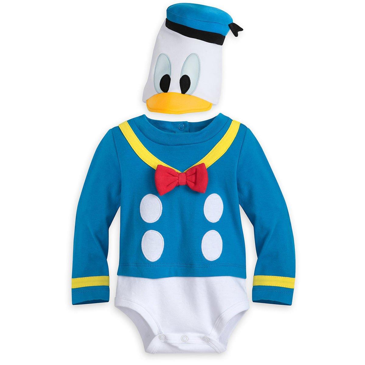 Disney Store Donald Duck Baby Costume Bodysuit Hat 3-6 Months 2018 New