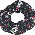 I Woof You Dog Christmas Holiday Black Fabric Hair Scrunchie Ties Scrunchies by Sherry