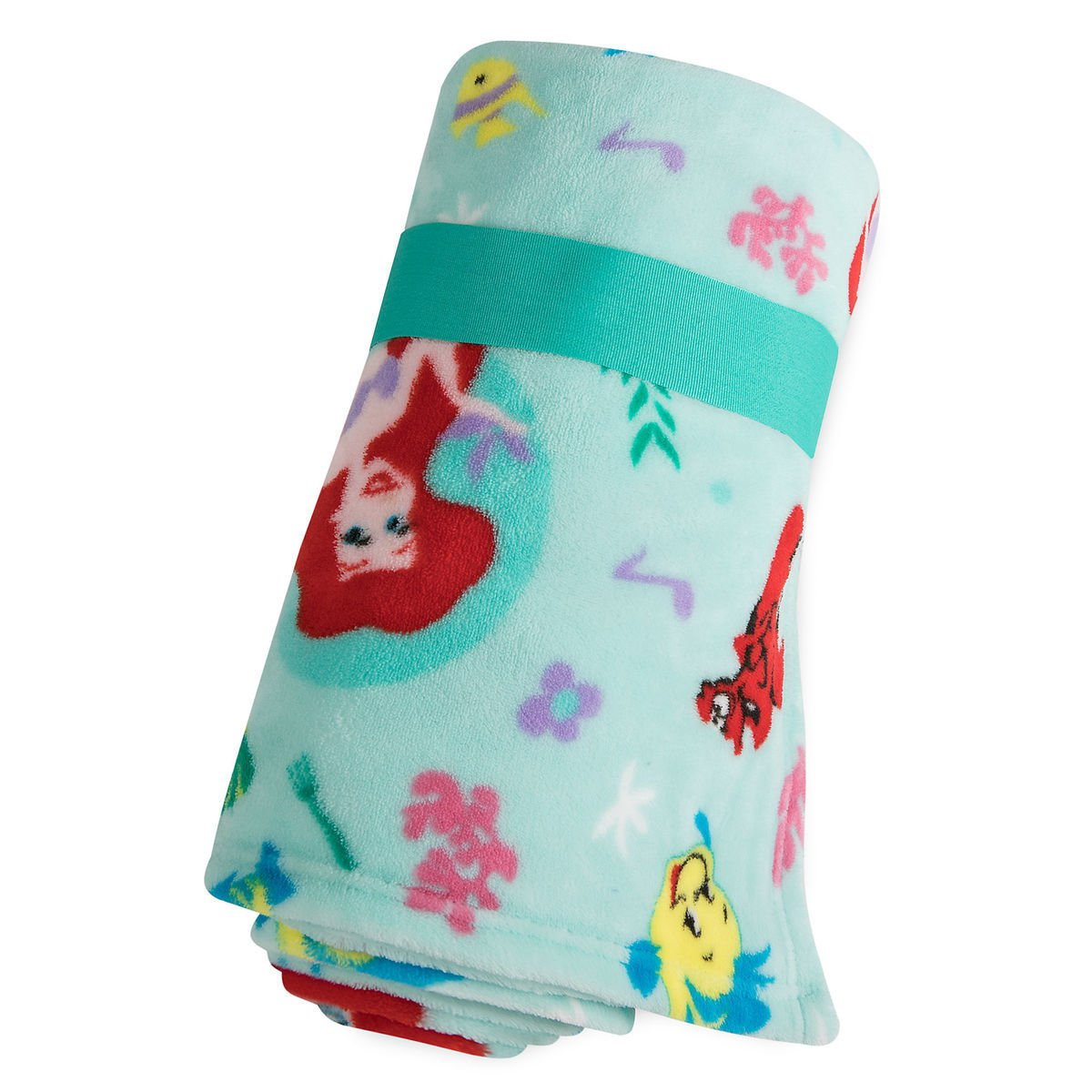 Disney Store Princess Ariel Green Fleece Throw Blanket 2018