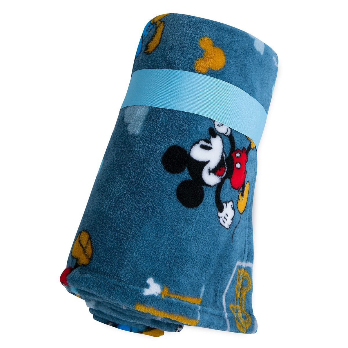 Disney Store Mickey Mouse Blue Fleece Throw Blanket 2018