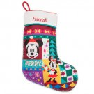 Disney Store Minnie and Mickey Mouse Stocking Christmas 2018