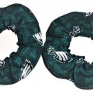 2 Philadelphia Eagles Football Mini Print Fabric Mini Hair Scrunchies Scrunchie NFL