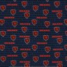 2 Chicago Bears Football Mini Print Fabric Mini Hair Scrunchies Scrunchie NFL
