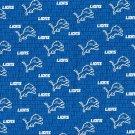 2 Detroit Lions Football Mini Print Fabric Mini Hair Scrunchies Scrunchie NFL