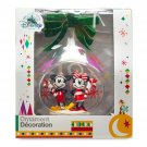 Disney Store Yearly Glass Sketchbook Mickey Minnie Mouse Ornament 2018