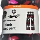 Disney Jack Skellington Nightmare Before Christmas Ladies Lounge Pants Sleepwear PJ's Black L
