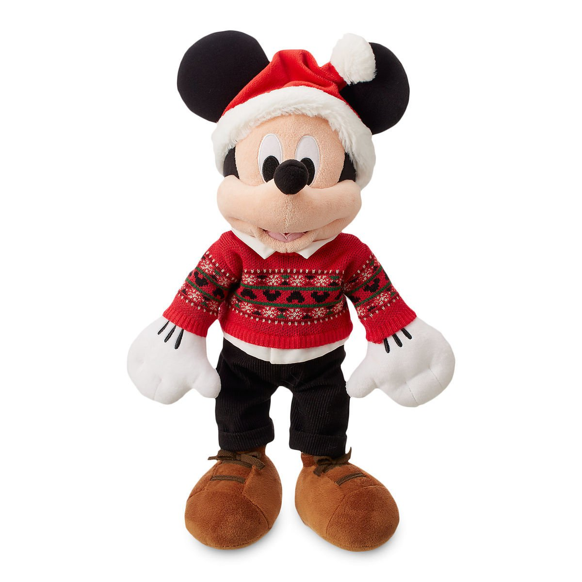 Disney Store Mickey Mouse Christmas Plush Toy Exclusive 2018 Limited New