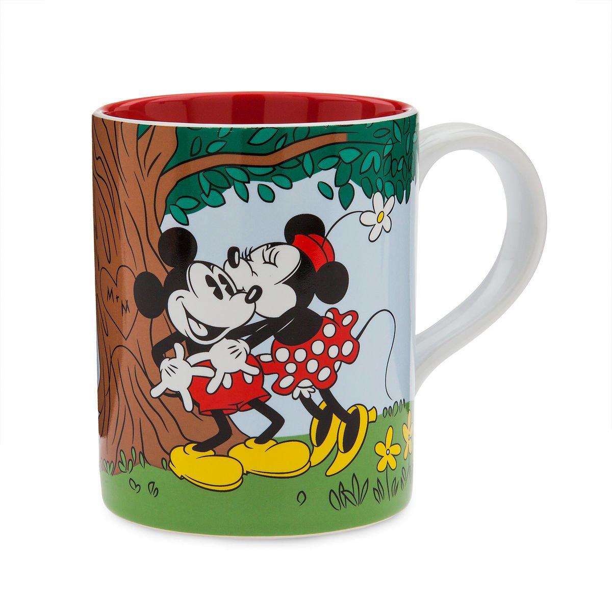 Disney Store Mickey and Minnie Mouse Picnic Kiss Mug New 2018