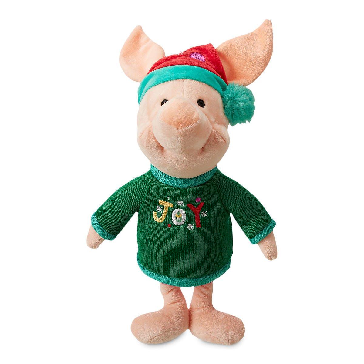 Disney Store Piglet Holiday Plush  Medium 2018