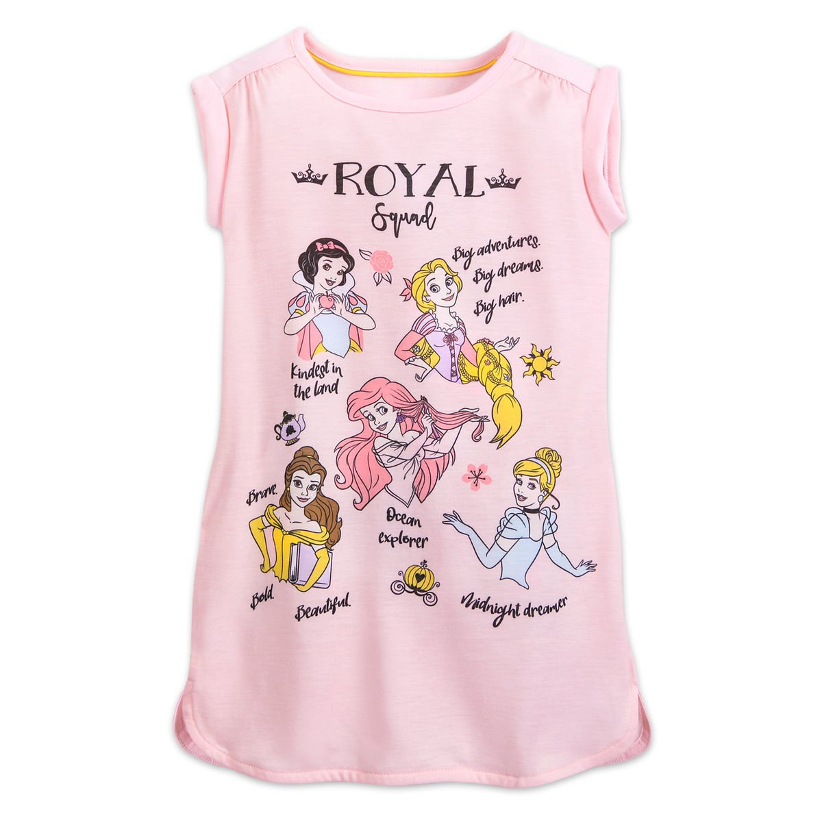 Disney Store Nightshirt Nightgown Princess Pink 2019 New 7/8