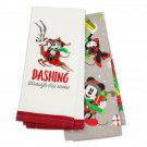 Disney Theme Parks Santa Mickey Mouse and Friends Kitchen Towel Set