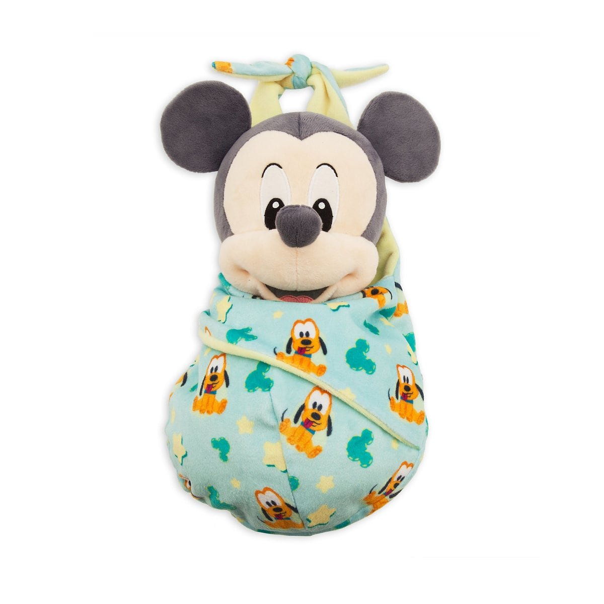 Disney Parks Mickey Mouse Plush with Blanket Pouch - Disney's Babies - Small