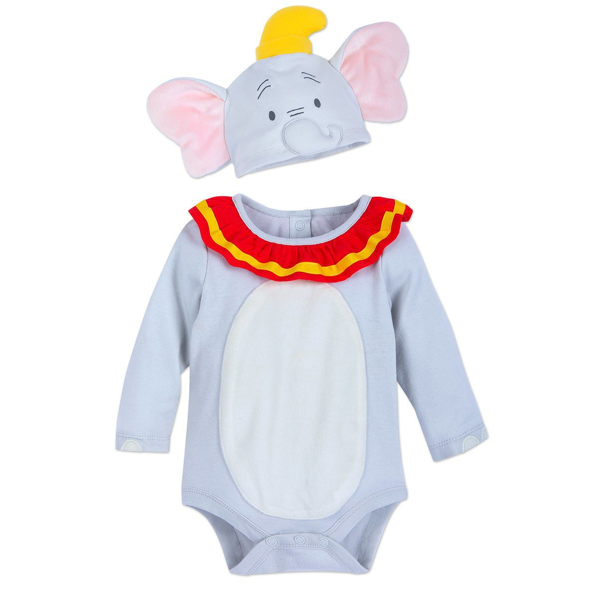 Disney Store Dumbo Baby Costume Bodysuit Hat 0-3 Months 2019 New