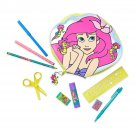 Disney Store Princess Ariel Zip Up Art Case Stationary Pencils Markers 2019