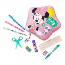 Disney Store Minnie Mouse Zip Up Art Case Stationary Pencils Markers 2019