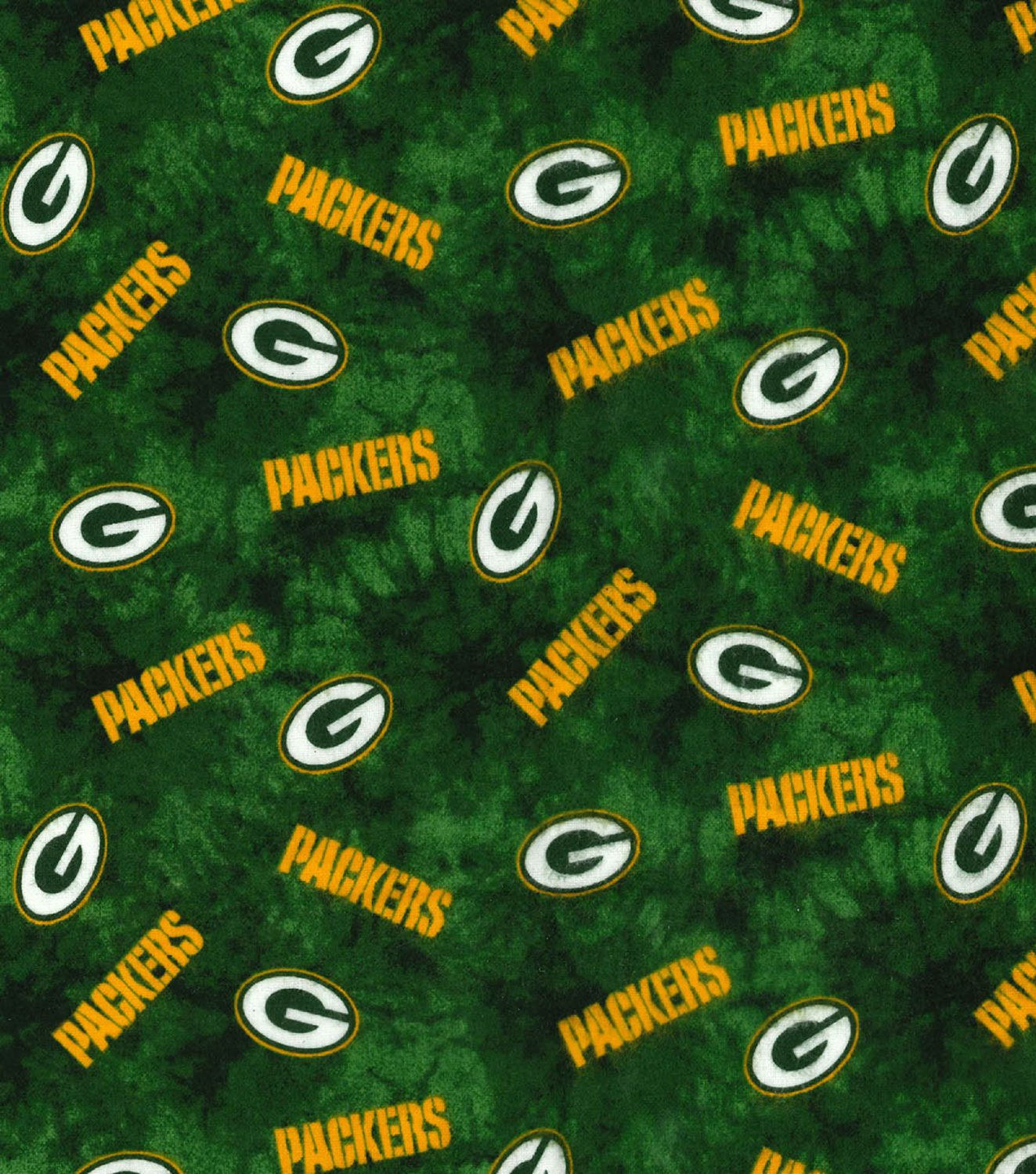 Green Bay Packers Football Tie Dye Flannel Fabric Hair Scrunchie Scrunchies NFL