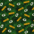 Green Bay Packers Football Tie Dye Flannel Fabric Hair Scrunchie Scrunchies NFL
