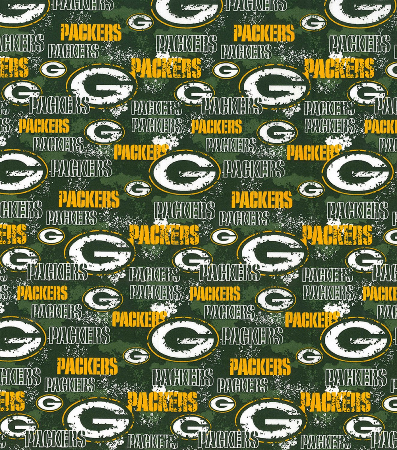 Green Bay Packers Football Packed Fabric Hair Scrunchie Scrunchies NFL
