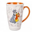 Disney Store Lady and the Tramp Classic Tall Latte Mug 2019