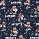 New England Patriots Mickey Mouse Football Fabric Hair Scrunchie Scrunchies NFL