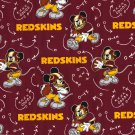 Washington Redskins Mickey Mouse Football Fabric Hair Scrunchie Scrunchies NFL
