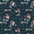 Philadelphia Eagles Mickey Mouse Football Fabric Hair Scrunchie Scrunchies NFL