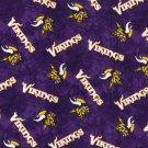 Minnesota Vikings Football Tie Dye Flannel Fabric Hair Scrunchie Scrunchies NFL