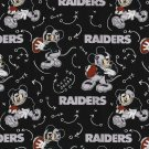 Las Vegas Raiders Mickey Mouse Football Fabric Hair Scrunchie Scrunchies NFL