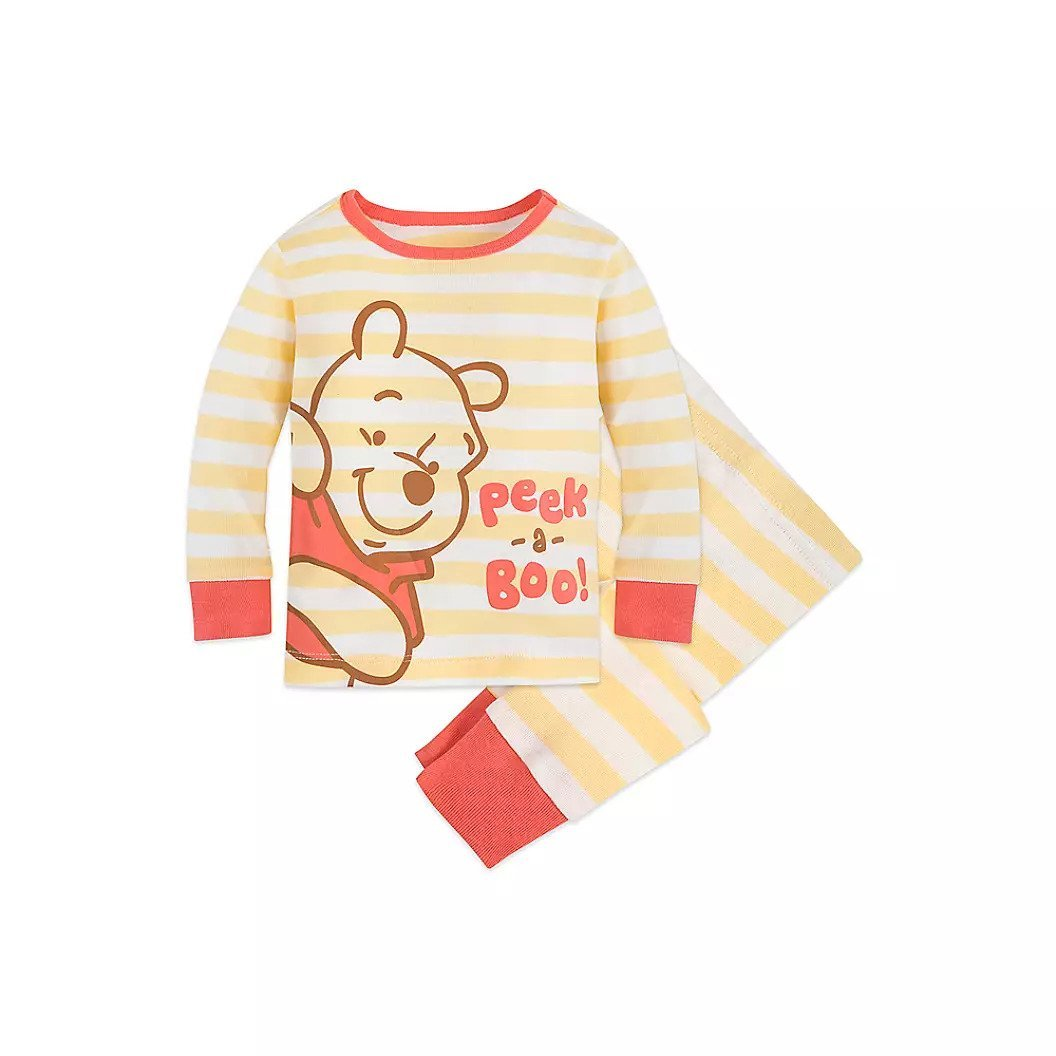 -Disney Store Winnie the Pooh PJ Pals for Baby Pajamas 6-9 Months New 2019