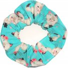 Cute Kittens KItty Cats Blue Fabric Hair Ties Scrunchie Scrunchies by Sherry